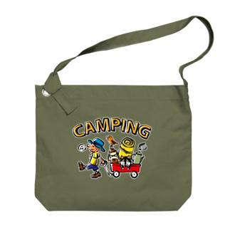キャンピング_カラフル Big Shoulder Bag