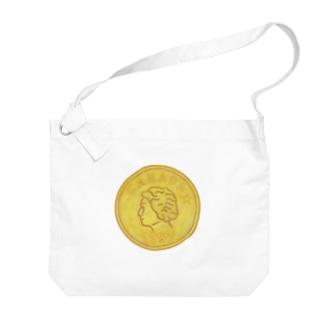 金貨 Big shoulder bags