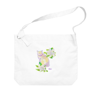 cat&flower Big shoulder bags