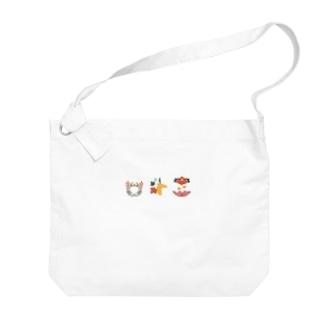 【まあるい花札】猪鹿蝶 Big shoulder bags