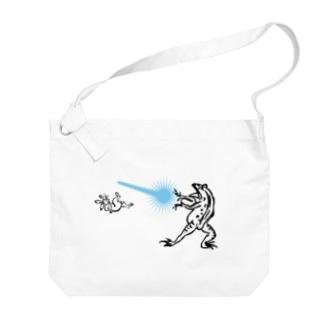 鳥獣人物戯画 カメハメ波 Big shoulder bags