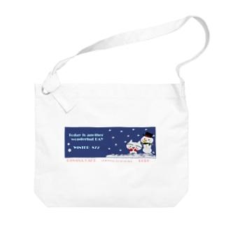 猫なんです。GORO雪だるさんと冬の1日 Big shoulder bags