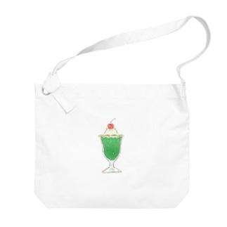 メロンクリームソーダコ Big shoulder bags