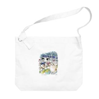 CatChips森のカフェ Big shoulder bags