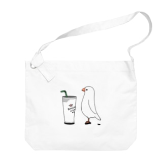 カフェ文鳥 Big shoulder bags