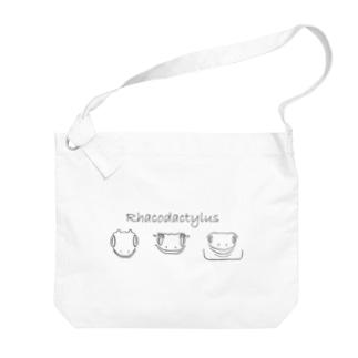 Rhacodautylus Face(黒) Big shoulder bags