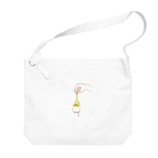 のびのびインコちゃん Big shoulder bags