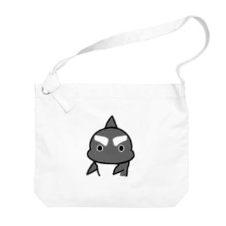 「まじか」 #シャチくん  Big shoulder bags