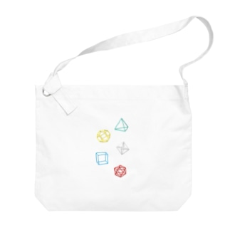Regular Polyhedron Big shoulder bags