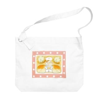 ぱんとまふふ(イチゴ) Big shoulder bags
