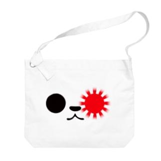 ゆるパンダアップ 旭日旗style Big shoulder bags