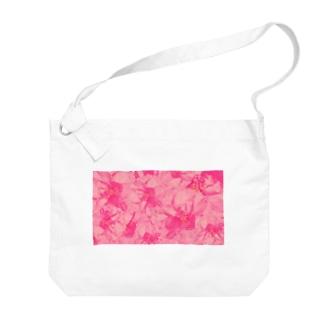 重なりお花 Big shoulder bags