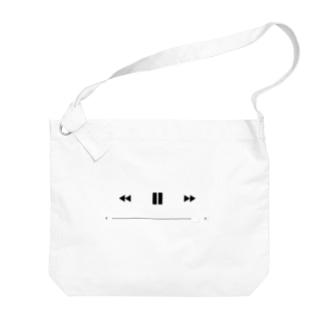 再生ボタン Big shoulder bags