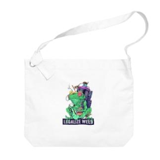 Legalize It ! のLEGALIZE IT FROG (SH11NA WORKS) Big shoulder bags