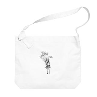 ヒラメキガール Big shoulder bags