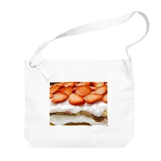 スカイベリー!イチゴクリーム!生クリーム!ケーキ!!! Big shoulder bags