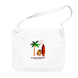 aliveONLINE SUZURI店のだいきちSummerHoliday Big shoulder bags