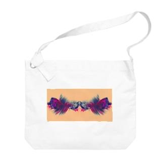 色彩の羽根 001 Big Shoulder Bag