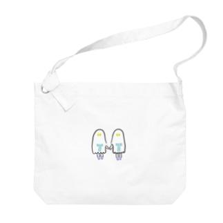 おばけちゃんシスターズ(黒フチ) Big shoulder bags