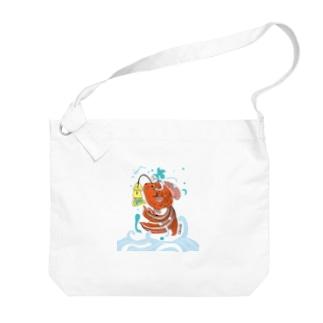 跳ね金魚 Big shoulder bags