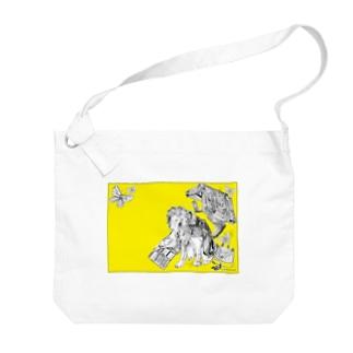 Retro Design Letter Big shoulder bags