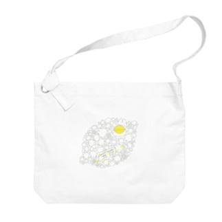 リモーネちゃんレモンいっぱい(グレーライン) Big Shoulder Bag