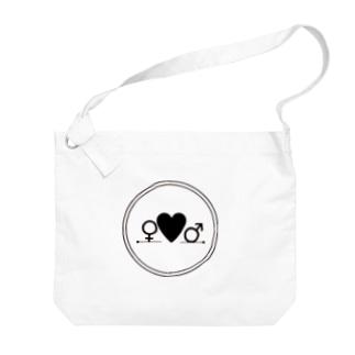 Boy ♡ Girl(黒) Big shoulder bags