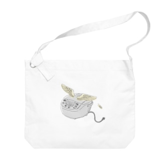 空飛ぶ炊飯器 Big Shoulder Bag
