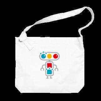 青点滅のグッズ売り場のキャラクター Big shoulder bags