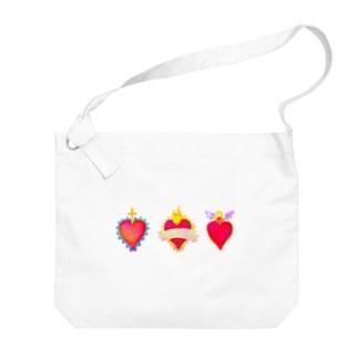 メキシコのハートモチーフ♥️ Big shoulder bags