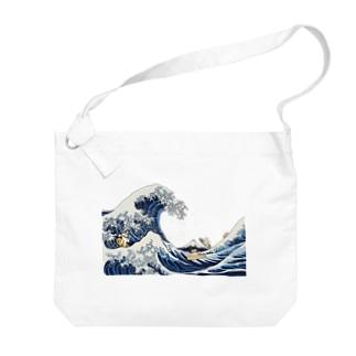 北斎ハス1 Big shoulder bags