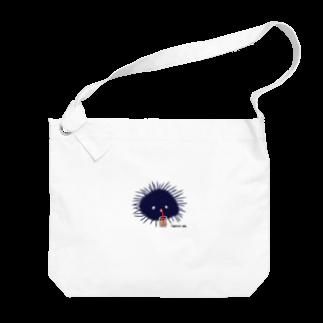 おもち屋さんのタピオカうに Big shoulder bags