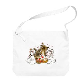 お花見 Big shoulder bags