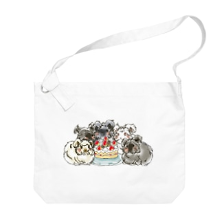 毛虫のケーキ Big shoulder bags