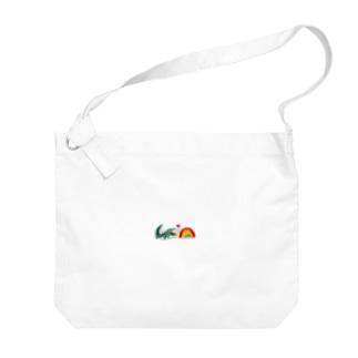 ワニと虹 Big shoulder bags