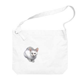 カッコイイ!猫ちゃん Big shoulder bags