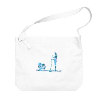 Supdog ポメラニアン Big shoulder bags