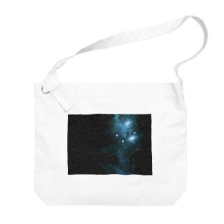 青の煌めき Big shoulder bags