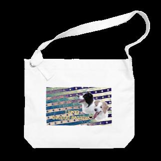 bordercolliefivekのボーダーコリーモデル Big shoulder bags