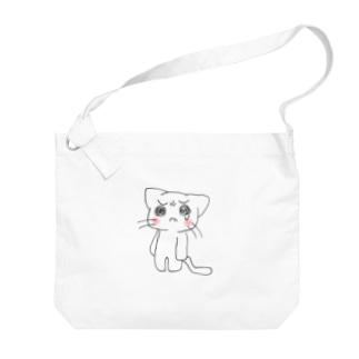 泣き虫にゃんこ Big shoulder bags