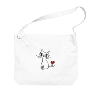 ねこ Big shoulder bags