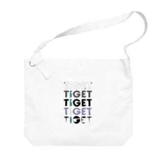 TIGET 6周年記念グッズ ロゴ ver. Big shoulder bags