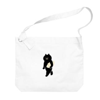 餃子をMacBookのように持ち運ぶ猫 Big shoulder bags