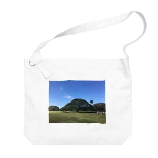 ハワイ モンキーポッド Big shoulder bags