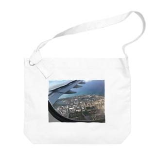 飛行機の窓から Big shoulder bags