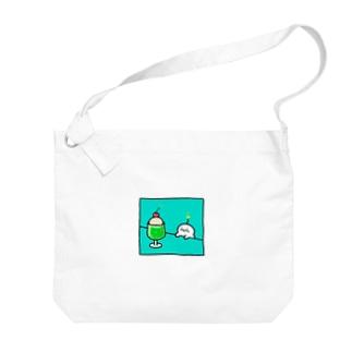 クリームソーダとぷりぷりうちゅうじん Big shoulder bags