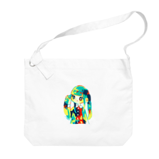矢島ロパのしょっぷのTwin Tale Girl Big shoulder bags
