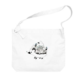かくれんぼ (青) Big shoulder bags