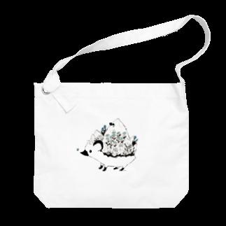 watariのかくれんぼ (青) Big shoulder bags