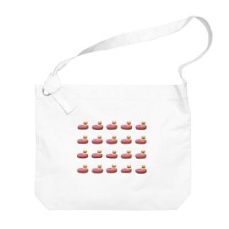 くまドーナツ たくさん Big shoulder bags